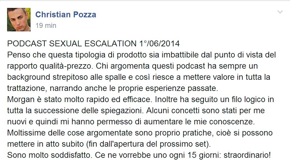 Recensione Podcast Sexual Escalation 01-06-2014