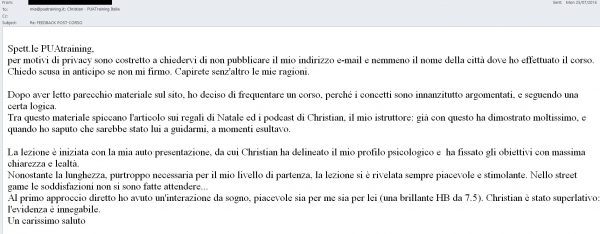 feedback 1on1 23 Luglio 2016 - Christian